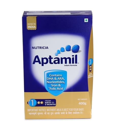 Aptamil Stage 1 Infant Formula Powder - 400gm Refill