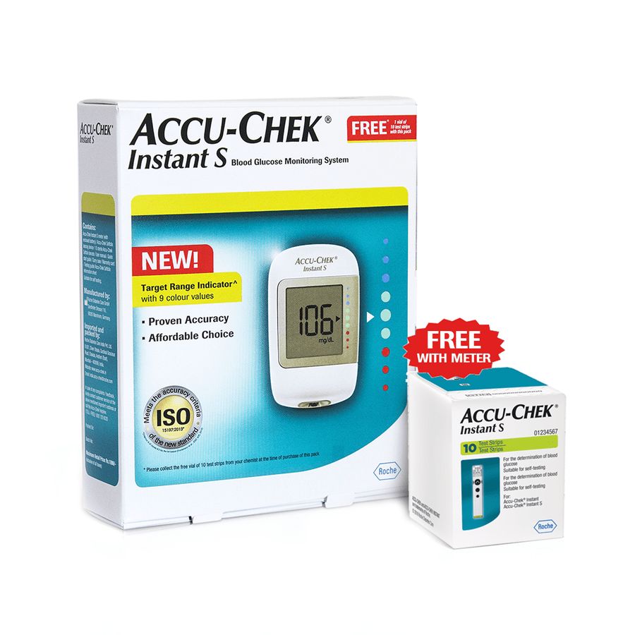 Accu-chek Instant S Meter Kit + Free 10 Strips