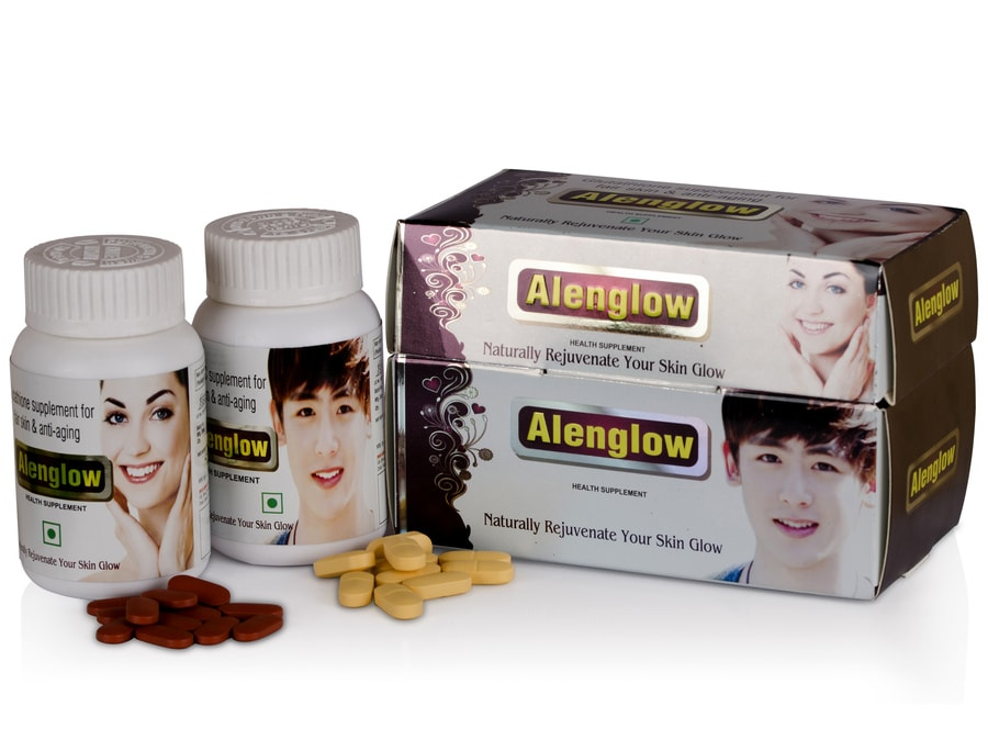 Alvizia Alenglow Premium L-glutathione 500mg And Vitamin C Kit (glowing Brightening Smooth Skin Support - Glutathione Health Supplement)