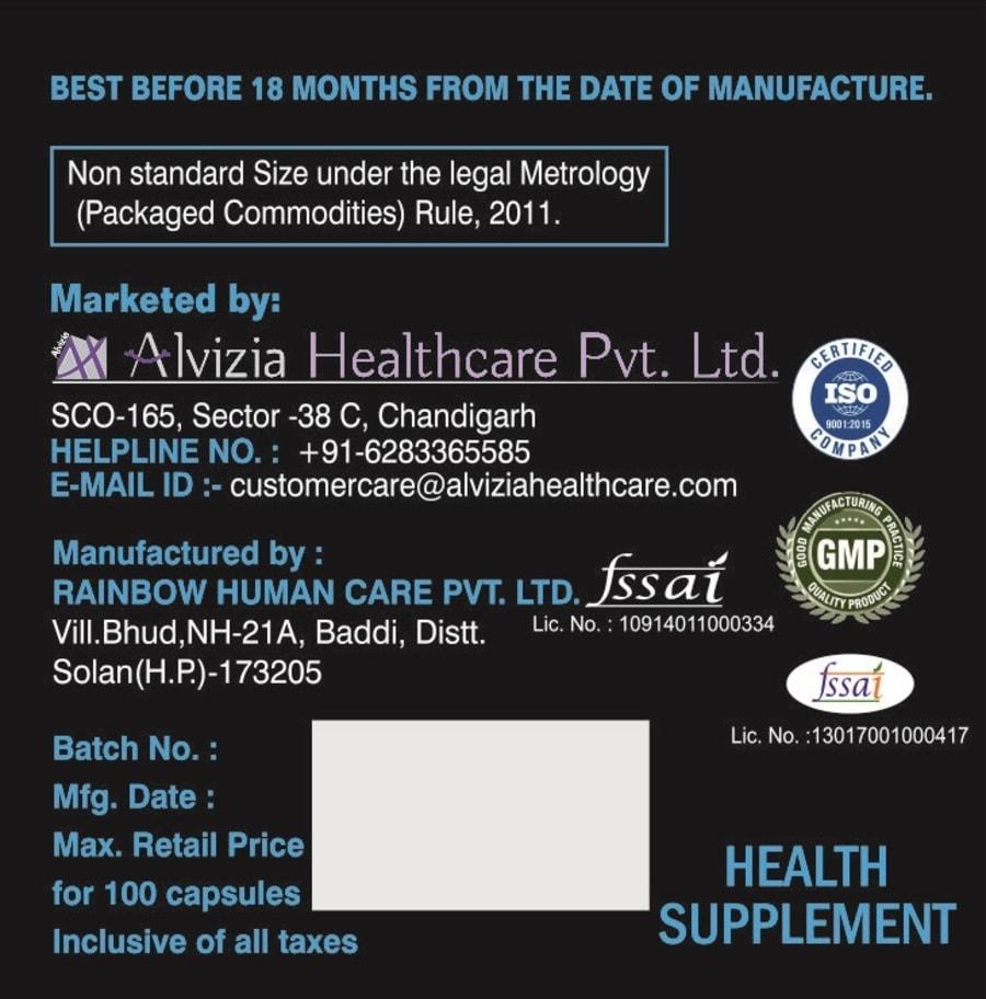 Alvizia L-arginine Amino Acids Supplements, Workout Supplement - 500mg + Free Alvizia One Daily Multi Vitamin 30 Capsules