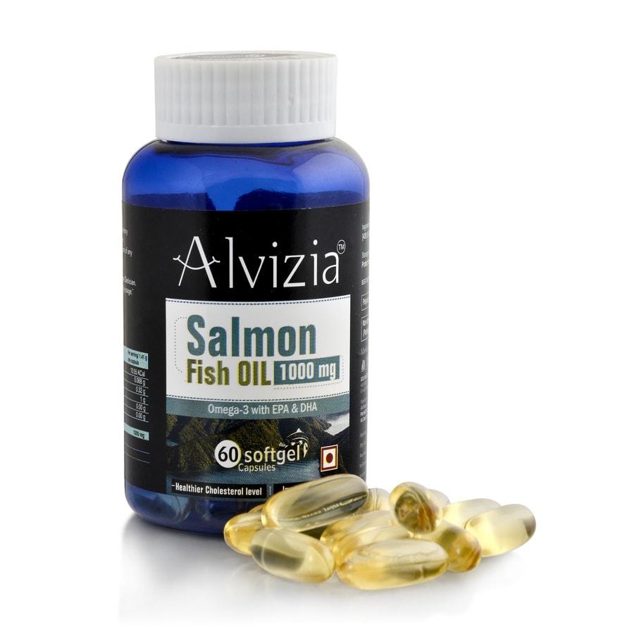Alvizia Salmon Fish Oil - 1000mg With Omega 3, Epa 330 & Dha 220 + Free Alvizia One Daily Multi Vitamin 30 Capsules
