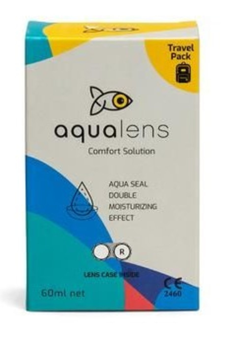 Aqualens Comfort  Contact Lens Solution  Bottle Of 60 Ml (lens Case Free)