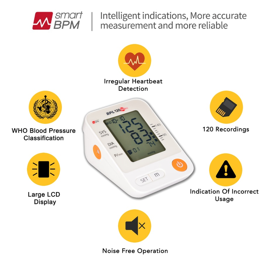 Bpl Automatic Blood Pressure Monitor Bpl 120/80 B11 - White - 1pc