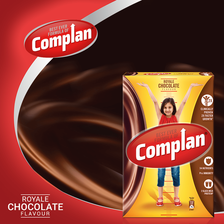 Complan Growth Drink Mix, Royale Chocolate – 500g Pack