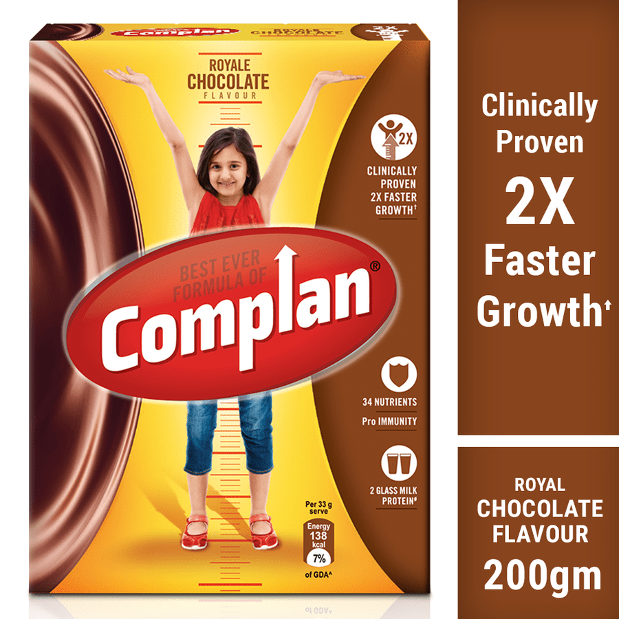 Complan Growth Drink Mix, Royale Chocolate – 200g Pack