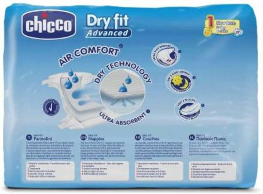 Chicco Diaper Dry Fit Adv New Born 27x10