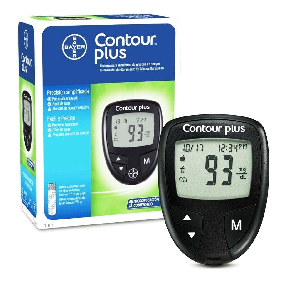 Contour Plus Blood Glucose Monitor + Free 25 Strips