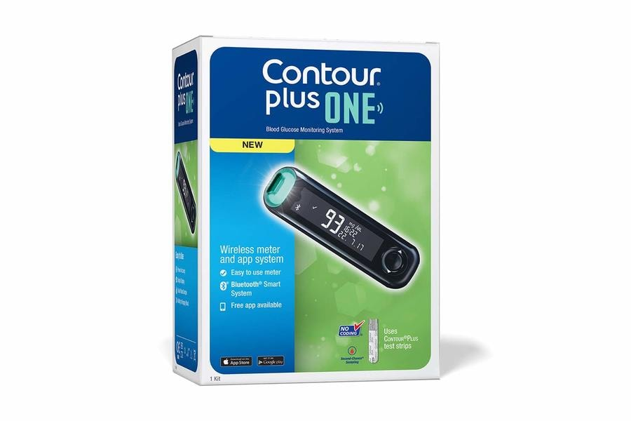 Contour Plus One Blood Glucose Monitor + Free 25 Strips