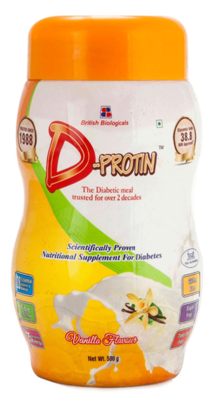 D-protin Vanilla Powder 500gm