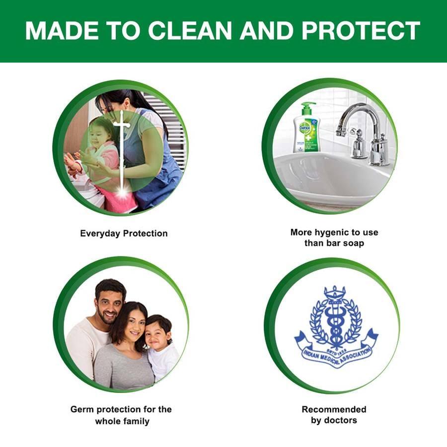 Dettol Germ Protection Handwash Refill, Original- 175ml (pack Of 3)
