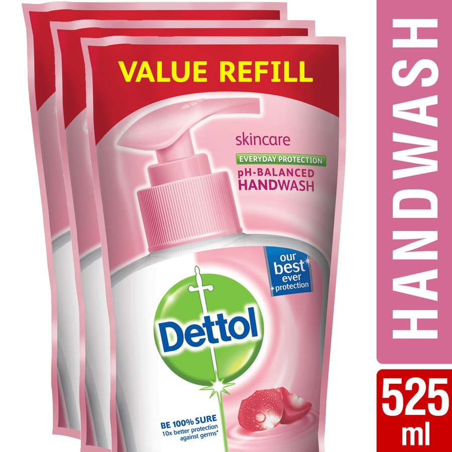 Dettol Germ Protection Handwash Refill, Skincare- 175ml (pack Of 3)