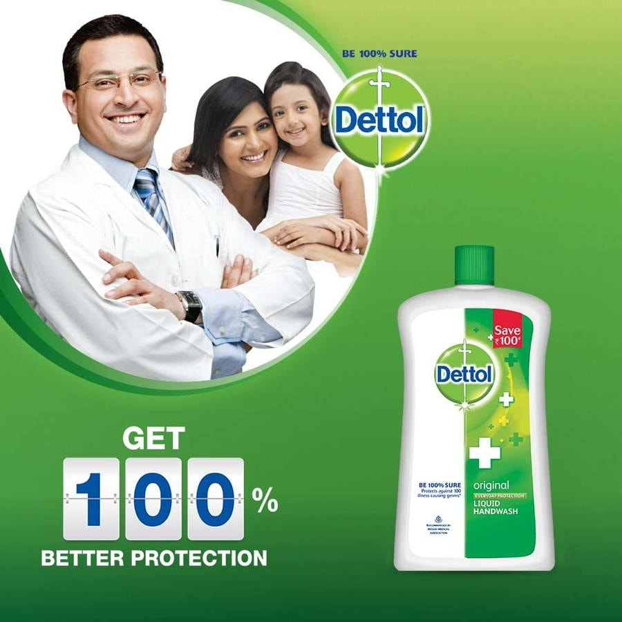 Dettol Ph-balanced Liquid Handwash Jar, Original- 900 Ml With 200 Ml Pump
