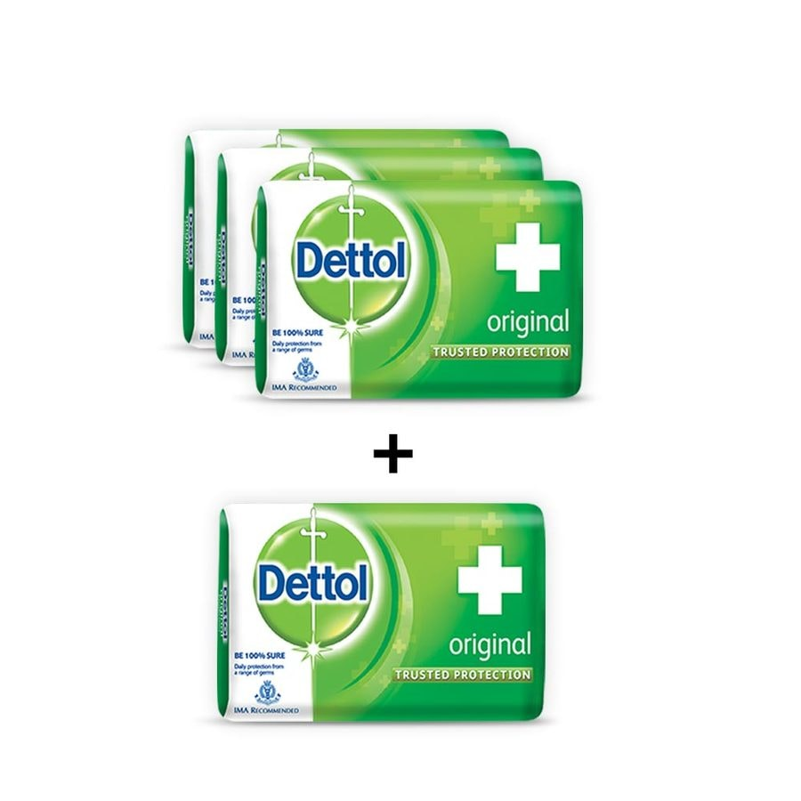 Dettol Bathing Bar Soap, Original - 75g (pack Of 4)