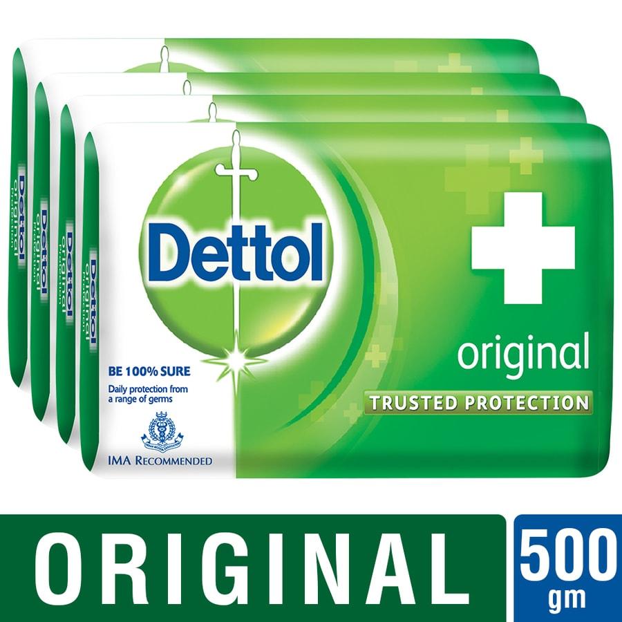 Dettol Germ Protection Bathing Bar Soap, Original- 125g (pack Of 4)
