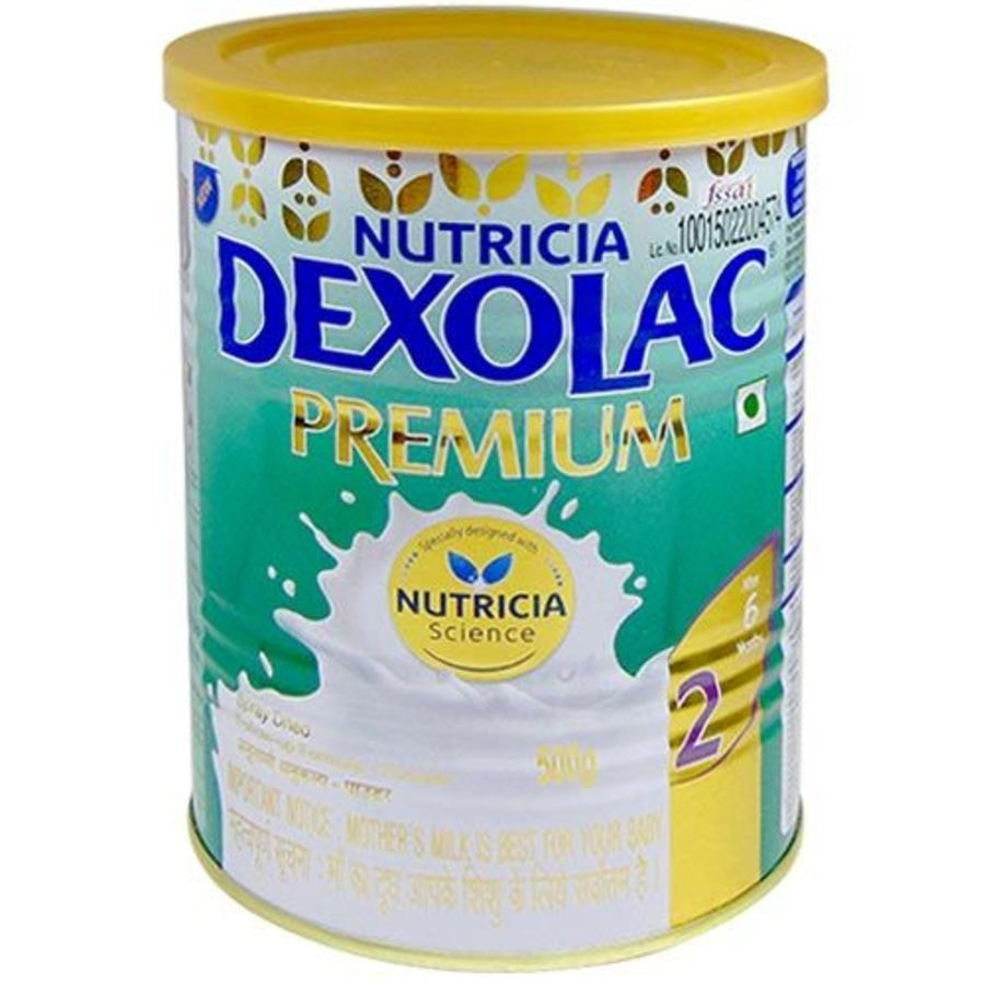 Dexolac Premium 2 Follow-up Formula (after 6 Months) Tin - 500gm
