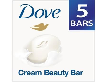 Dove Cream Beauty Bathing Bar 5x100 Gm