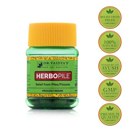 Dr. Vaidya's Herbopile Pills Pack Of 2 (60 Pills) (medicine For Piles)