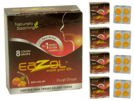 Eazol Lozenges Orange Flavour Super Saver Pack Of 5 X 8pcs