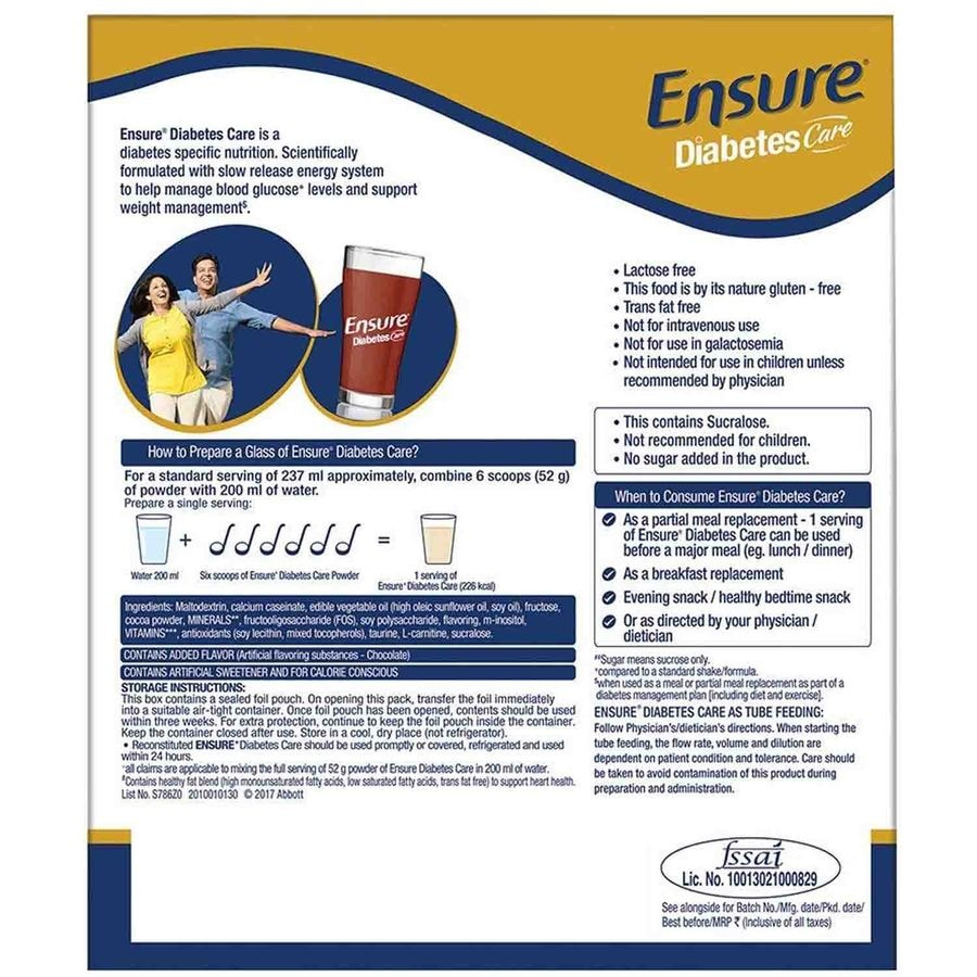 Ensure Diabetes Care Chocolate Sf Refill - 200gm