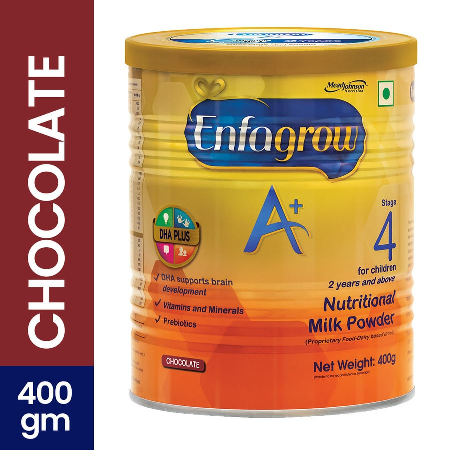 Enfagrow A+ Stage 4: Nutritional Milk Powder (2 Years And Above) Chocolate - 400g Tin