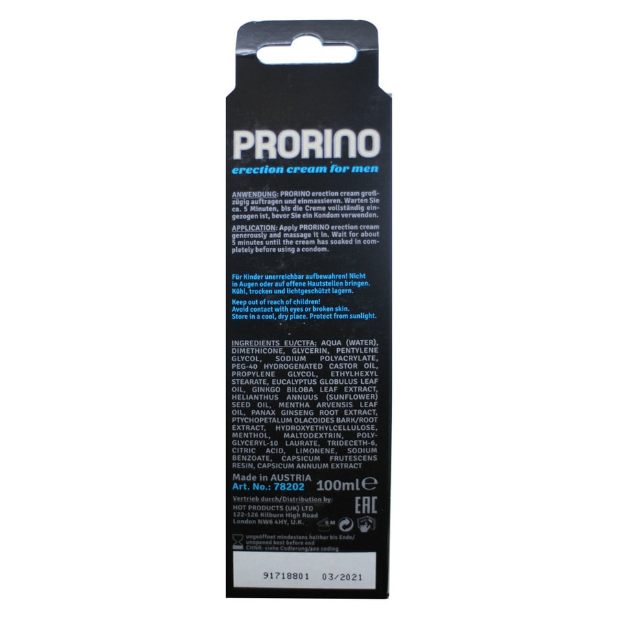 Ero Prorino Black Line Erection Cream For Men (100 Ml)