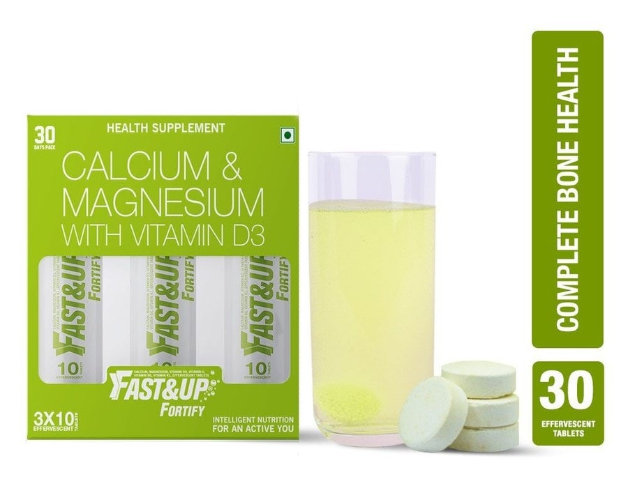Fast&up Fortify Lime & Lemon Effervescent Tablets Box Of 30