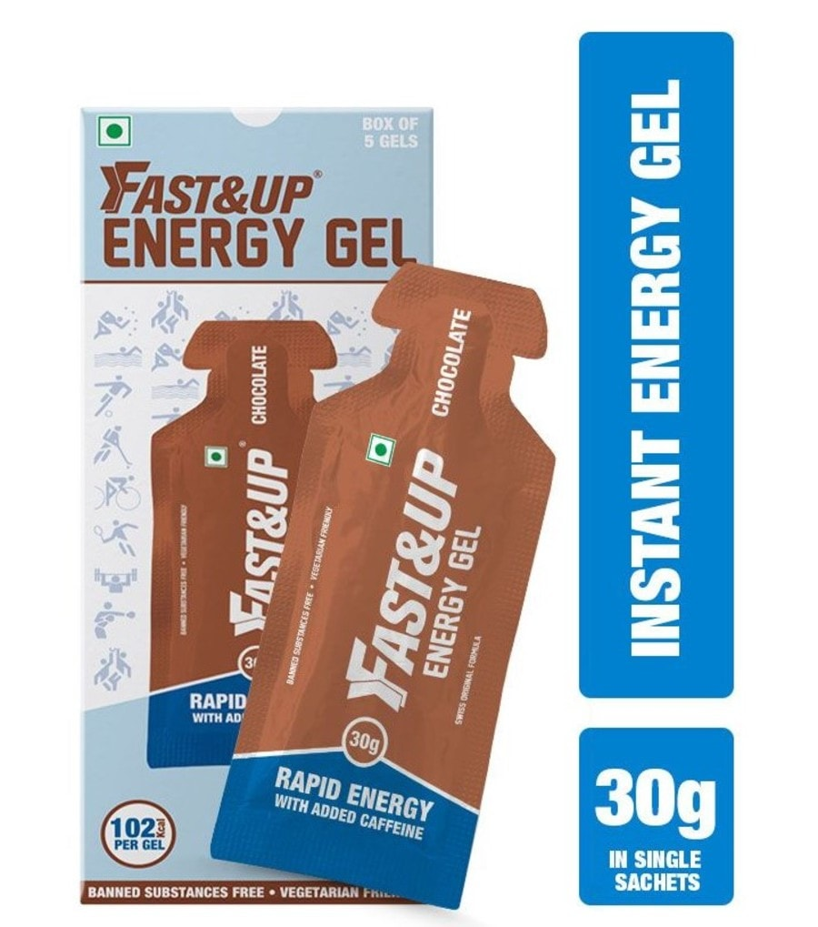 Fast&up Vegan Sports Energy Gel - 5x30gms Sachets - Chocolate Flavour