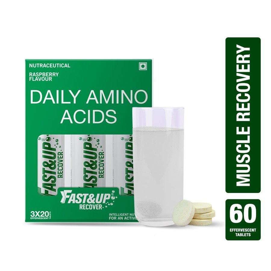 Fast&up Recover With Essential Amino Acids For Muscles - 60 Effervescent Tablets - Raspberry Flavour