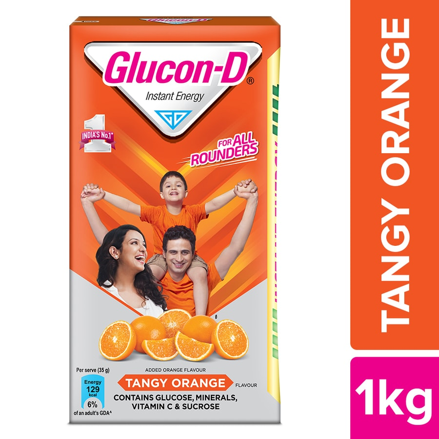 Glucon D Tangy Orange Flav Powder 1kg