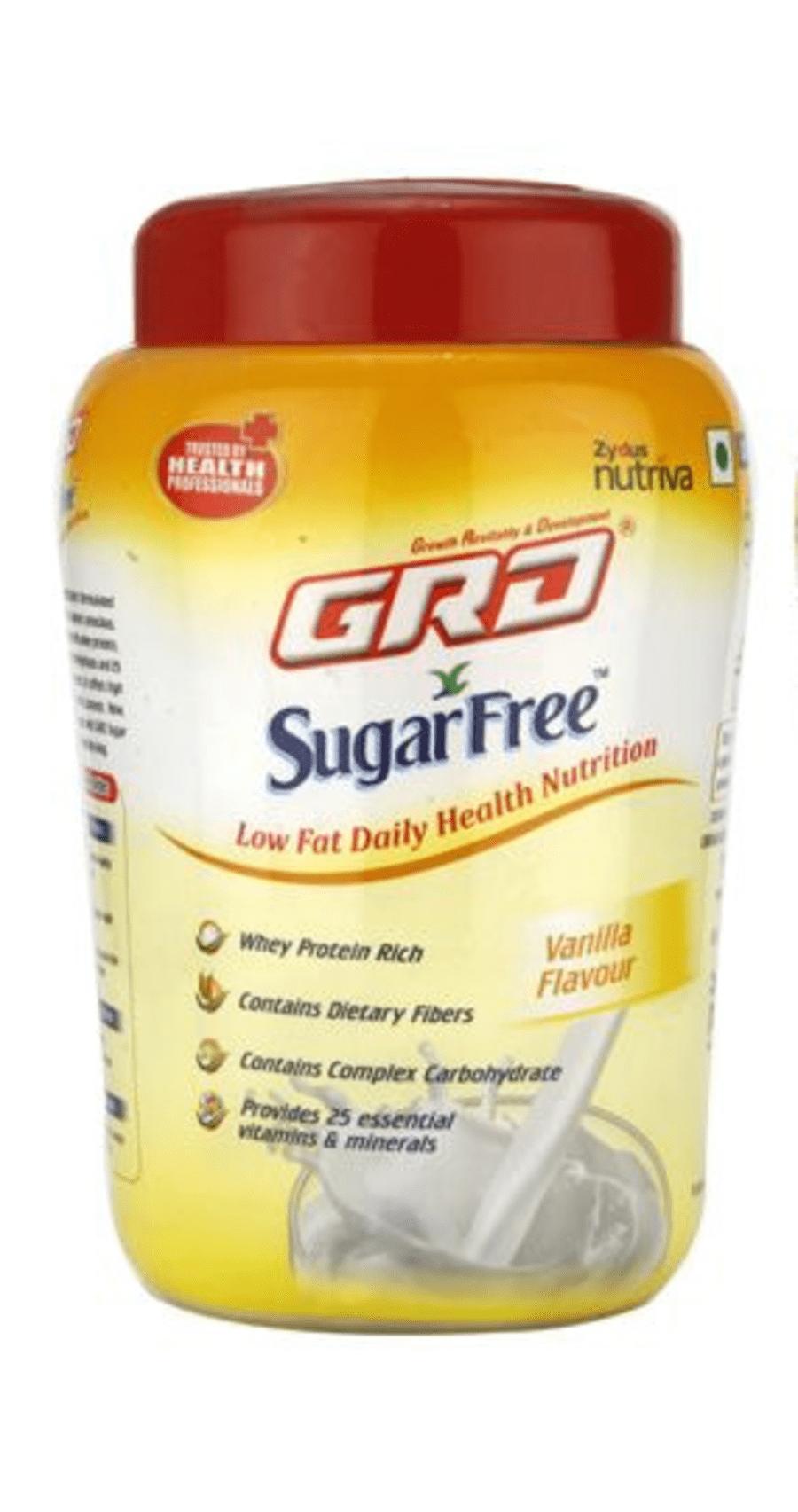 Grd Sugarfree Powder Vanilla - 200gm Jar