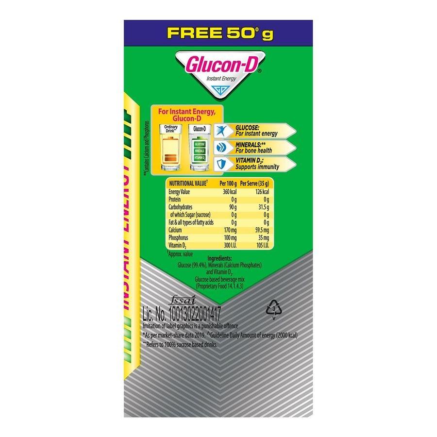 Glucon D Regular Instant Energy Powder Jar Of 250 G