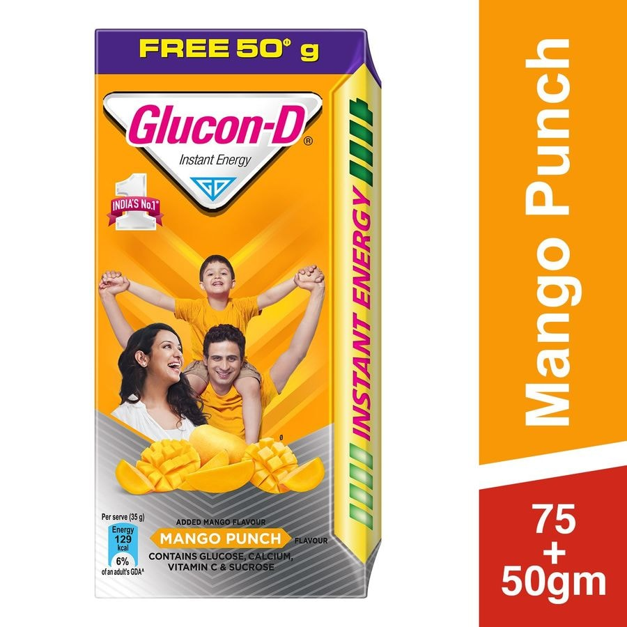 Glucon D Mango Punch Instant Energy Powder Box Of 125 G