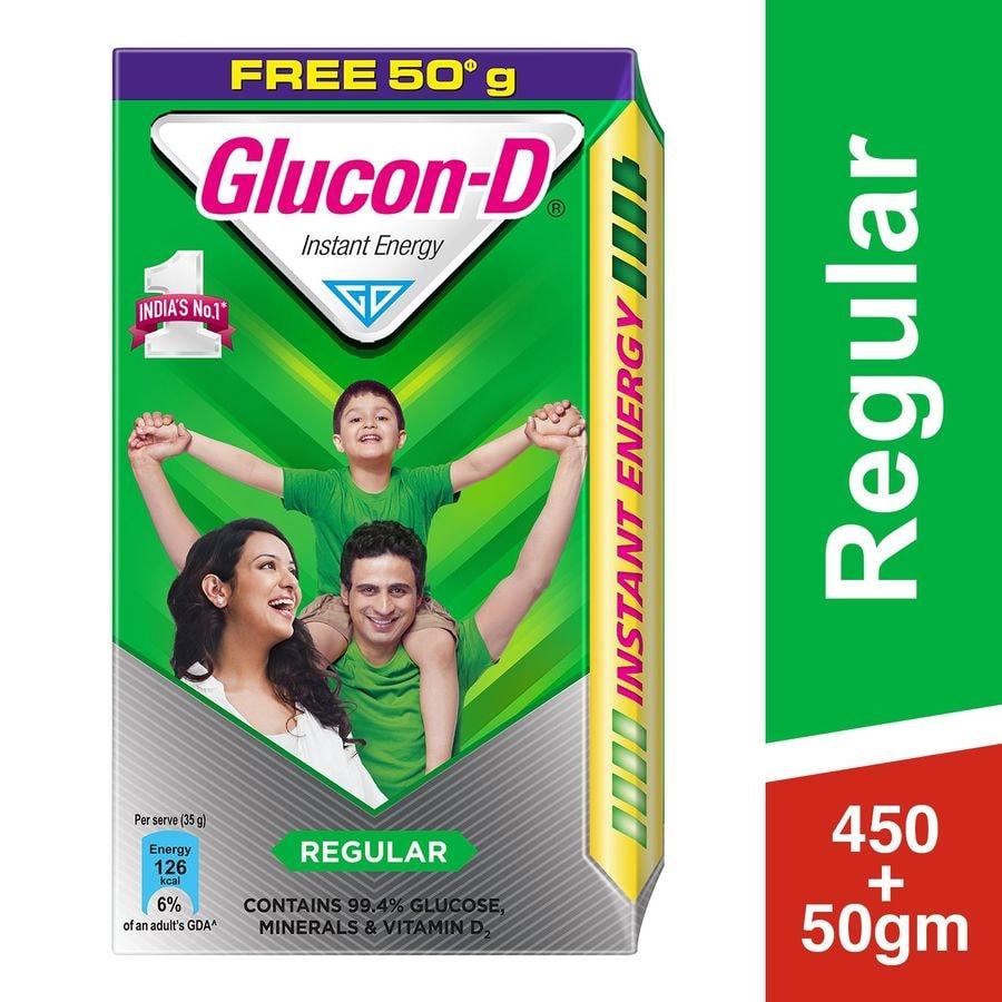 Glucon D Regular Instant Energy Powder Box Of 500 G