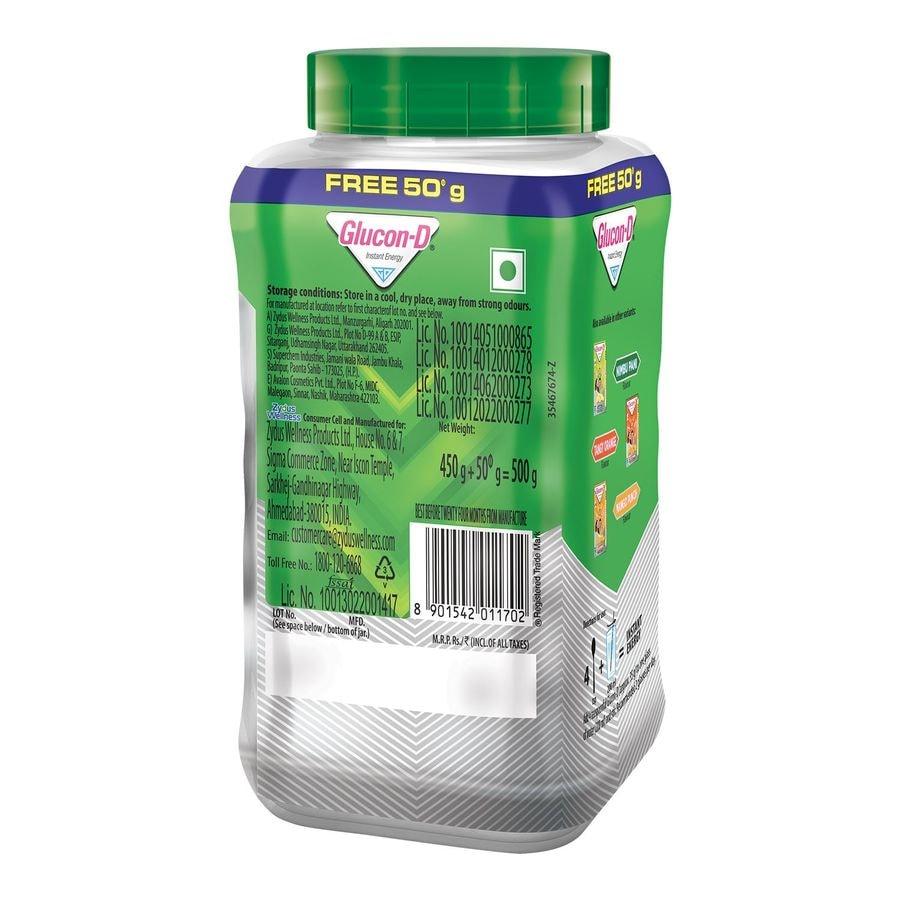 Glucon D Regular Instant Energy Powder Bottle Of 500 G