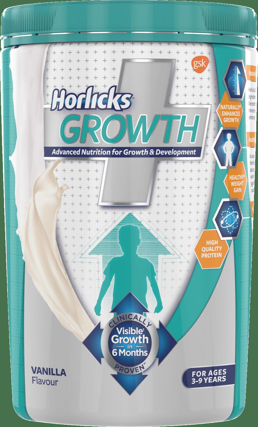 Horlicks Growth Plus – Health & Nutrition Drink (vanilla Flavor) 400gm Pet Jar