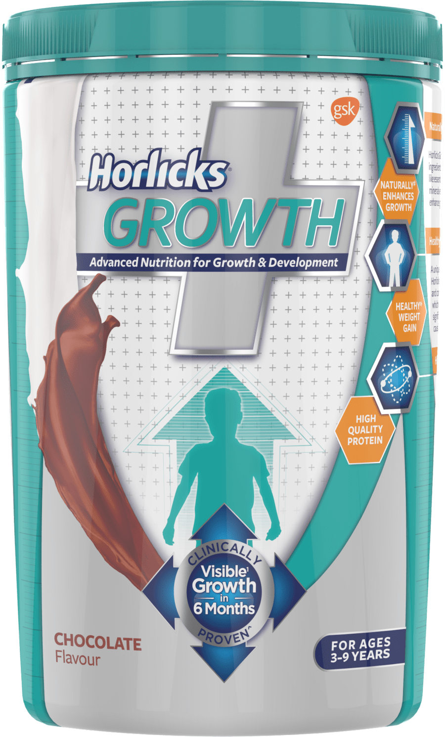 Horlicks Growth Plus – Health & Nutrition Drink (chocolate Flavor) 400gm Pet Jar