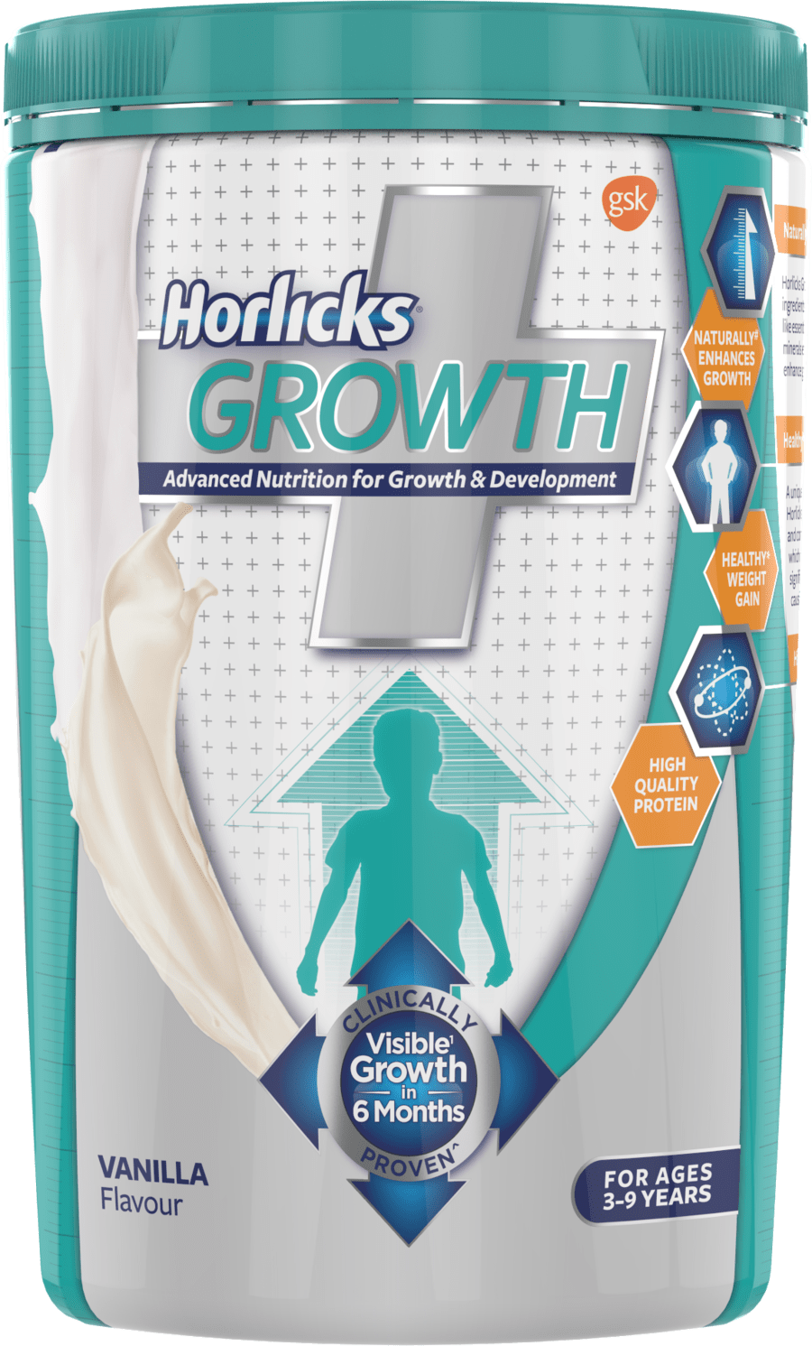 Horlicks Growth Plus – Health & Nutrition Drink 400gm Pet Jar