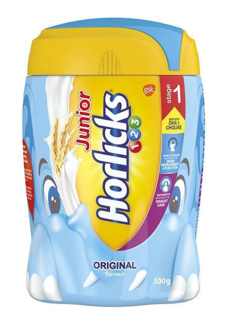 Junior Horlicks Stage 1 (2-3 Years) - Health & Nutrition Drink (original Flavor) 500gm Pet Jar