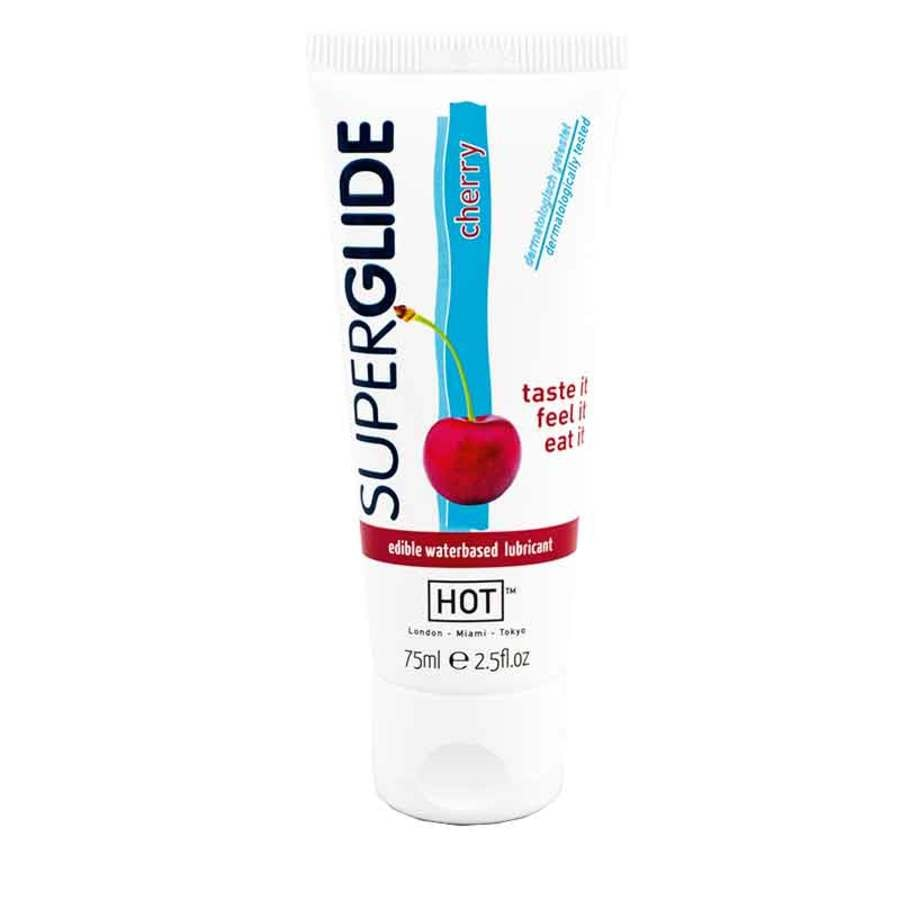 Hot Superglide Cherry Flavored Edible Water Based Lubricant (75ml)