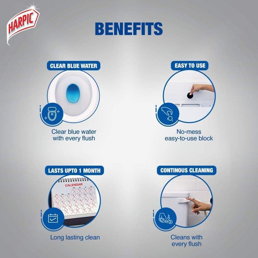 Harpic Flushmatic Aquamarine Toilet Block (twin Pack) Packet Of 100 G