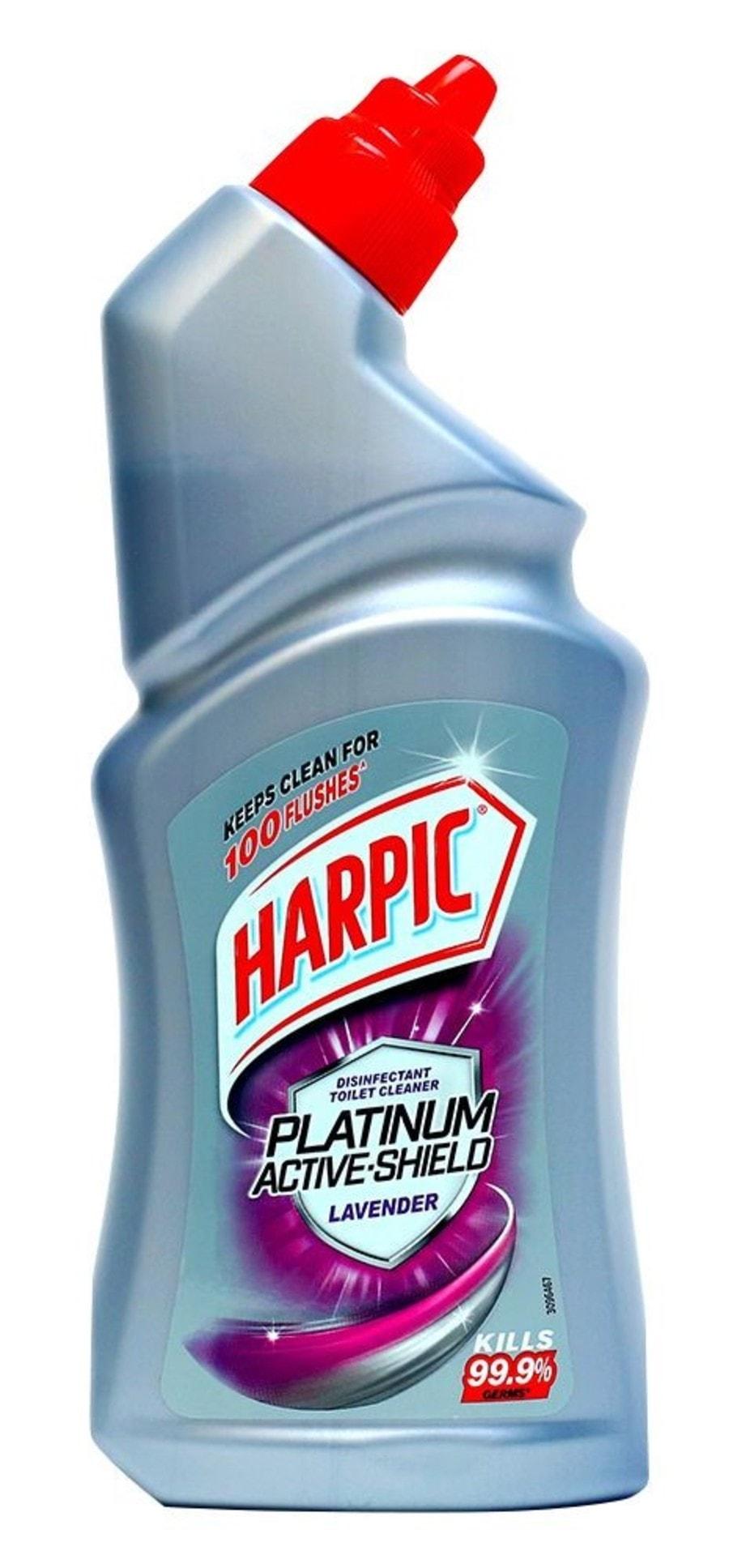Harpic Active Platinum Lavender Toilet Cleaner  Bottle Of 500 Ml