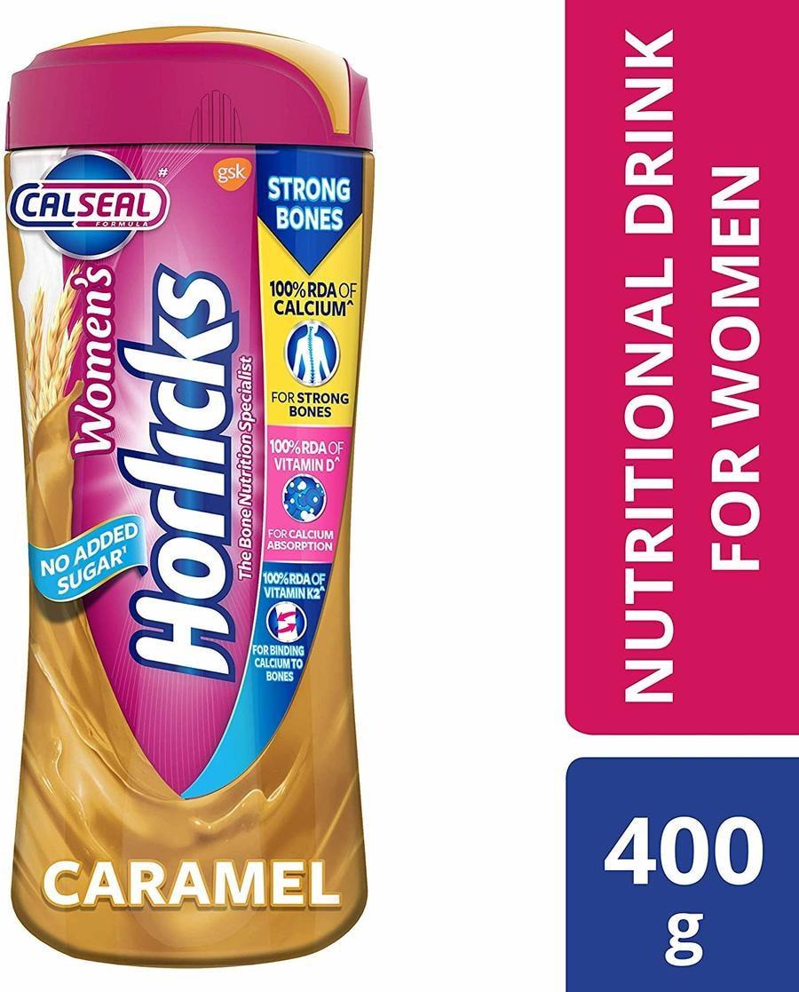 Women's Horlicks - Health & Nutrition Drink (caramel Flavor) 400gm Pet Jar