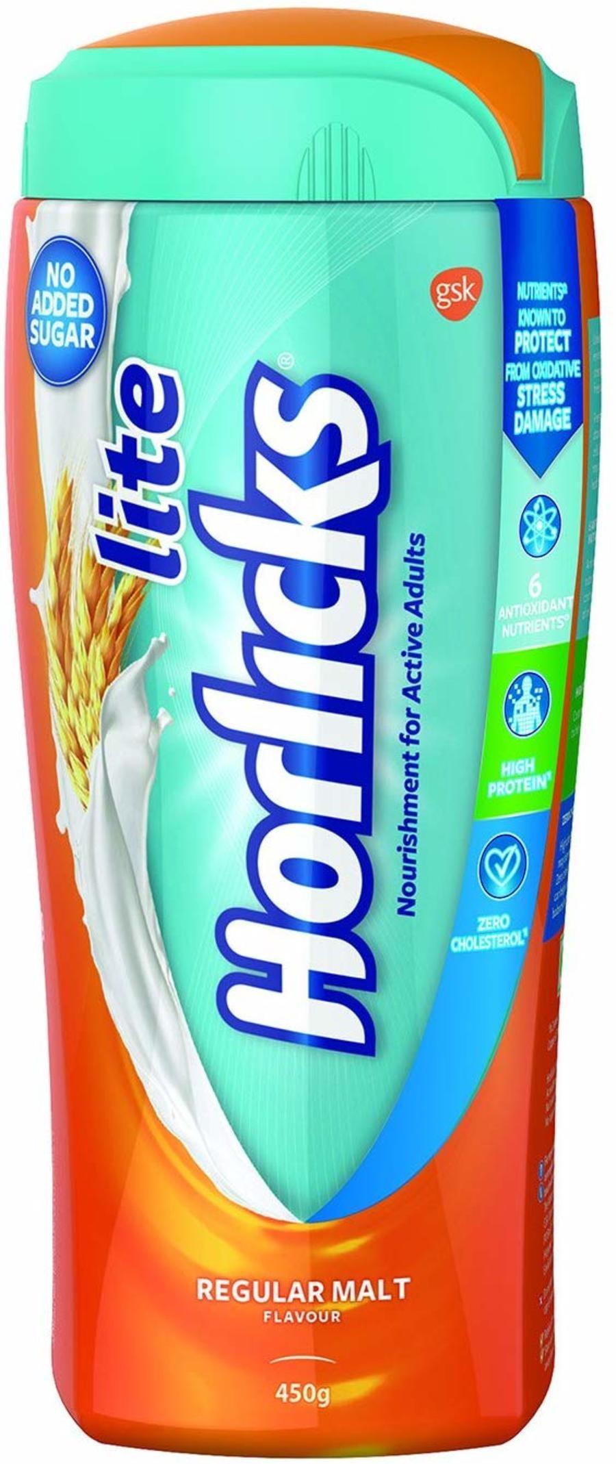 Horlicks Lite - Health & Nutrition Drink (regular Malt) - 450gm Pet Jar