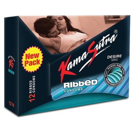 Kamasutra Ribbed 12 Condoms