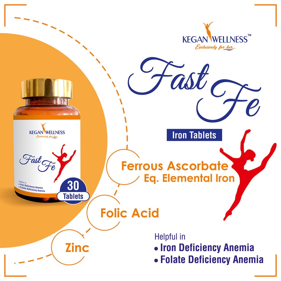Kegan Wellness Fastfe-iron Supplements With Sustained Iron Release 30's