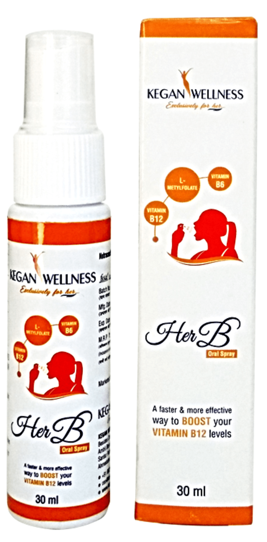 Kegan Wellness Herb-vitamin B12 Oral Spray(cranberry Flavour) 30 Ml