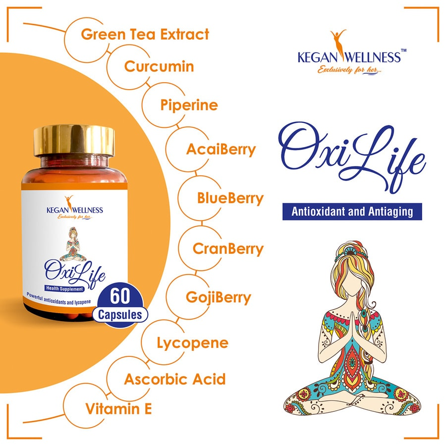 Kegan Wellness Oxilife-antioxidant And Antiaging Supplements 60's