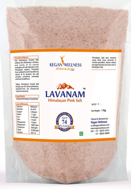 Kegan Wellness Lavanam-himalayan Pink Salt 1kg