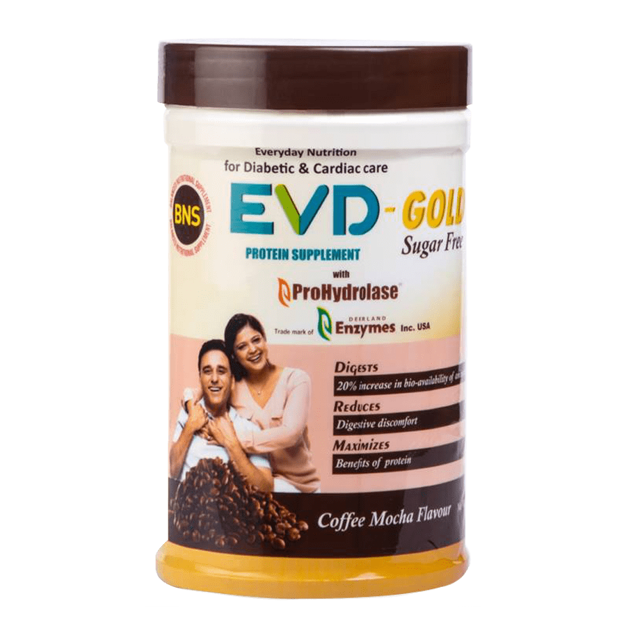 Evd Gold-sugar Free Protein Supplement With Prohydrolase Coffee Mocha Flavour - 400g Jar