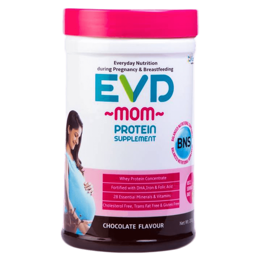 Evd Mom-neutraceutical Supplement During Pregnancy And Breastfeeding Chocolate Falvour - 400 Gm Jar
